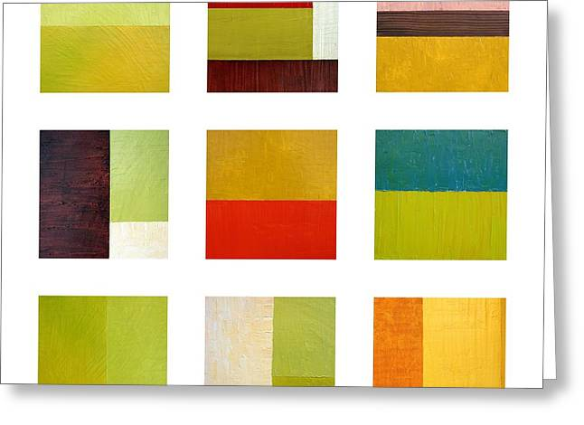 Painted Details Digital Art Greeting Cards - Color Study Abstract Collage Greeting Card by Michelle Calkins