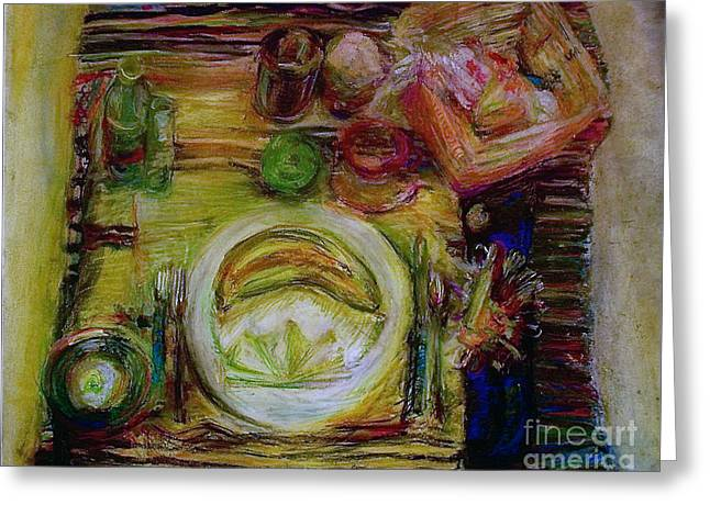 Olive Oil Pastels Greeting Cards - Color Study Greeting Card by Jana Barros