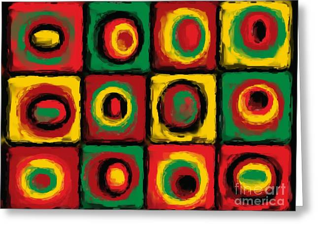Abstract Expressionist Greeting Cards - Color Study of Caribbean Flowers Greeting Card by Pet Serrano