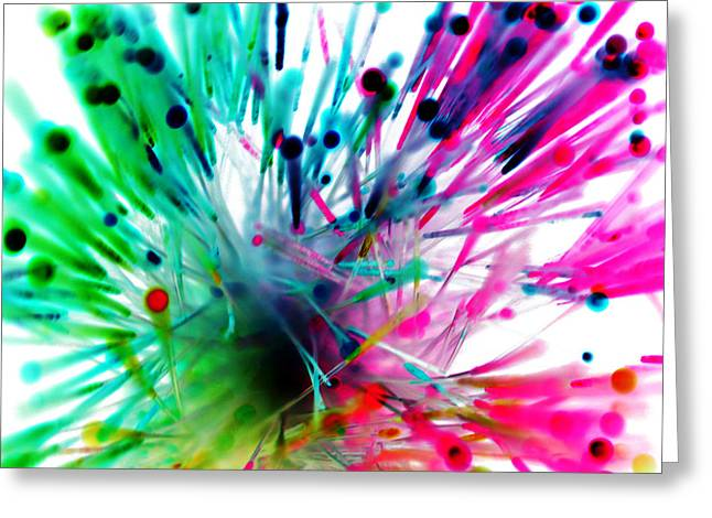 Color Tubes Greeting Card by Sumit Mehndiratta
