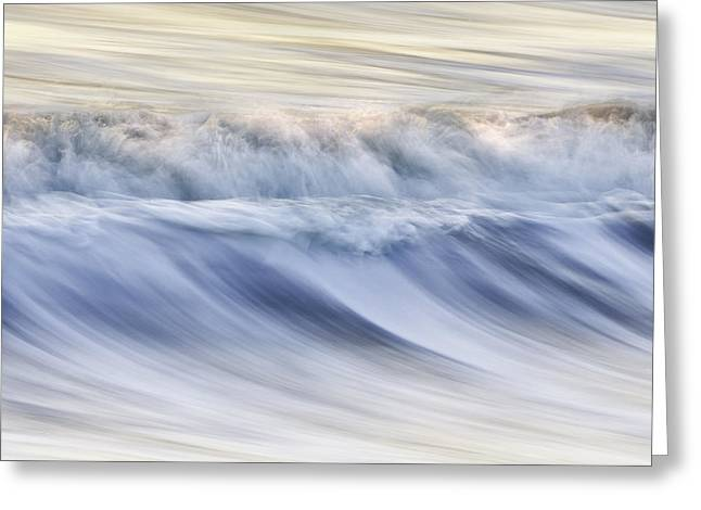 Color Wave IIi Greeting Card by Rob Travis