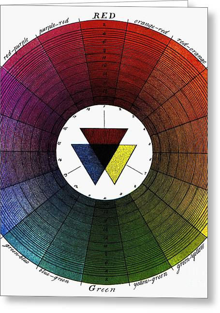 18th Century Greeting Cards - COLOR WHEEL, 18th CENTURY Greeting Card by Granger