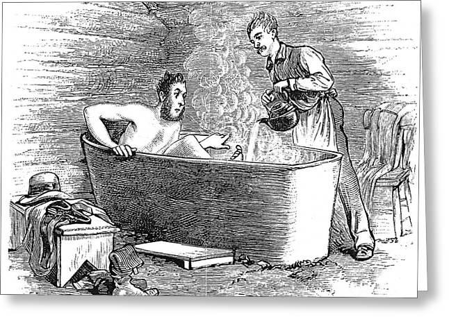 Bathhouse Greeting Cards - Colorado Bathhouse, 1879 Greeting Card by Granger