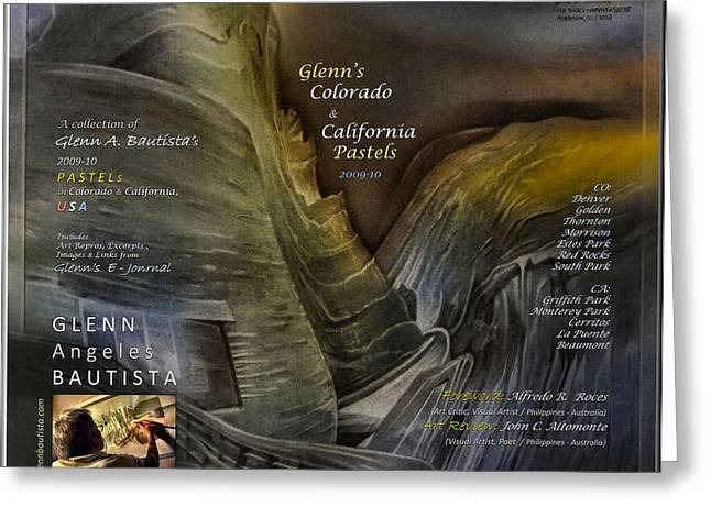 Colorado-California Art Book Cover2 Greeting Card by Glenn Bautista