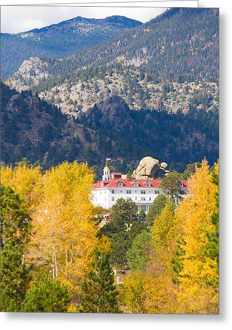 Colorado Estes Park Stanly Hotel Autumn View Greeting Card by James BO  Insogna
