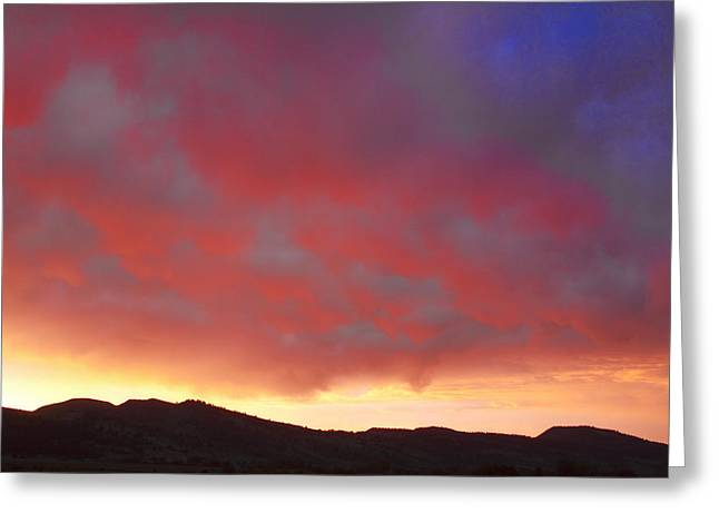 Card For Photographer Greeting Cards - Colorado Front Range Rocky Mountains Foothills Sunset Greeting Card by James BO  Insogna