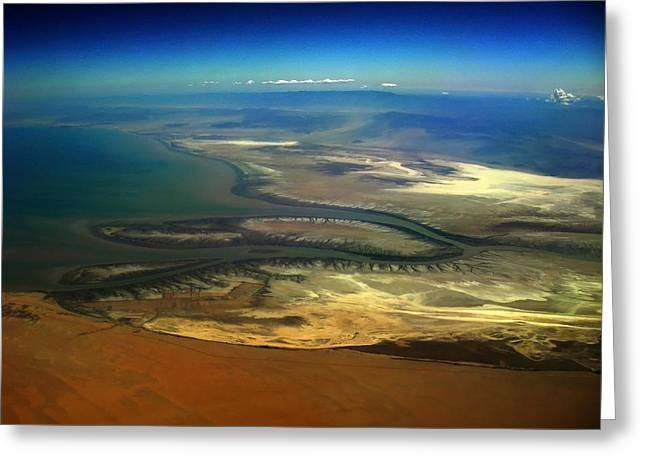 Aviation Photos Greeting Cards - Colorado River Delta 2 Greeting Card by Strato  ThreeSIXTY