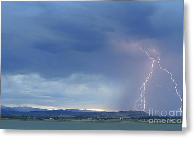 Lightning Gifts Greeting Cards - Colorado Rocky Mountains Foothills Lightning Strikes Greeting Card by James BO  Insogna