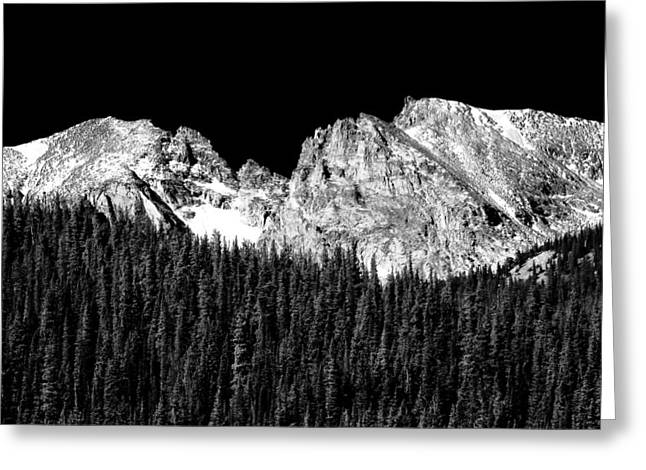 Indian Peaks Greeting Cards - Colorado Rocky Mountains Indian Peaks Fine Art BW Print Greeting Card by James BO  Insogna