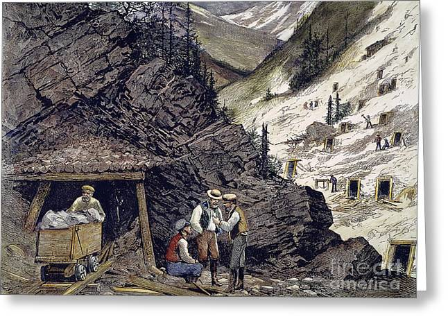1874 Greeting Cards - Colorado Silver Mines, 1874 Greeting Card by Granger