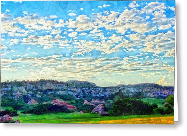 Hdr Landscape Mixed Media Greeting Cards - Colorado Skies 1 Greeting Card by Angelina Vick