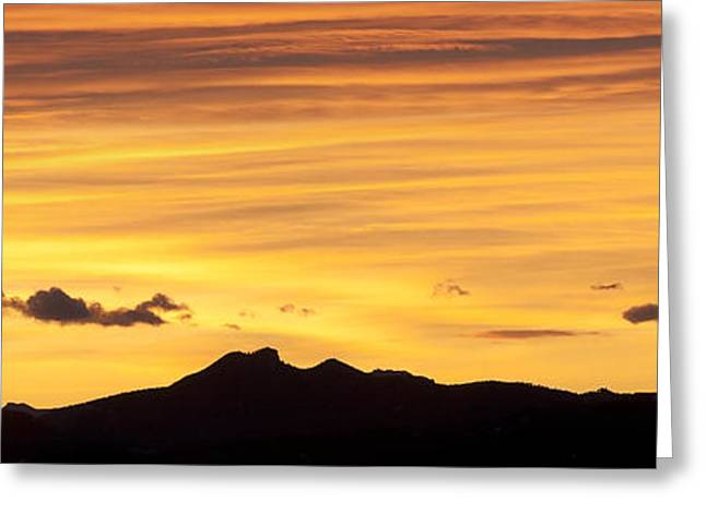 Tebow Greeting Cards - Colorado Sunrise Landscape Greeting Card by Bronze Riser