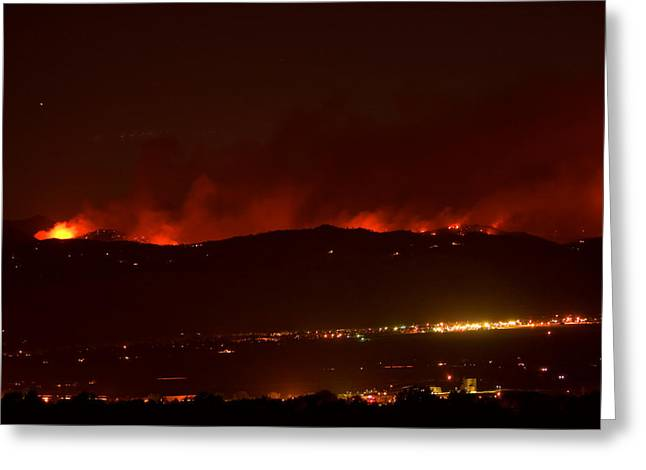 Striking-photography.com Greeting Cards - Colorado WildFire Fourmile Canyon aka Labor Day Fire Greeting Card by James BO  Insogna