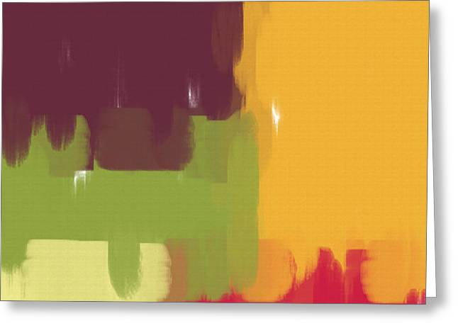 Colorblock Winter Greeting Card by Heidi Smith