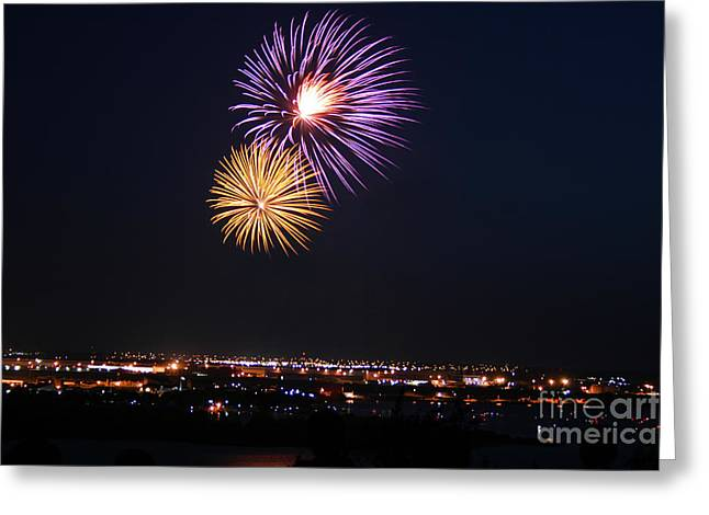 Independance Greeting Cards - Colorburst in July Greeting Card by Kelly Christiansen