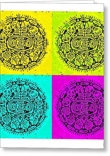 Oreo Greeting Cards - Colored Oreos Greeting Card by Rob Hans