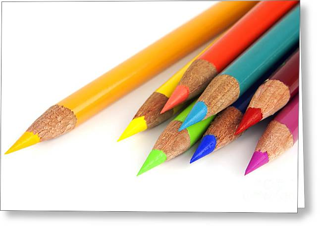 Educate Greeting Cards - Colored pencils Greeting Card by Blink Images