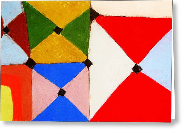 Abstractions Pastels Greeting Cards - Colored Tiles Greeting Card by Kazuya Akimoto