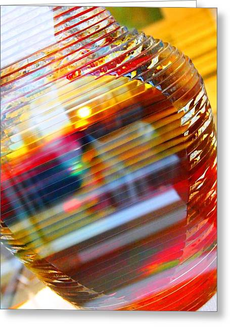 Colored Vase At The Mayo Clinic Greeting Card by Laura  Grisham
