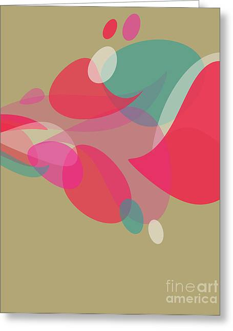 Purple Abstract Beige Greeting Cards - Colorful Abstraction Greeting Card by HD Connelly