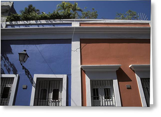 Colorful Architecture In Old San Juan Greeting Card by Scott S. Warren