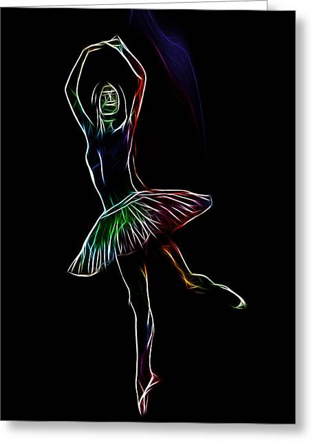 Ballerina Digital Greeting Cards - Colorful Ballerina Greeting Card by Stefan Kuhn