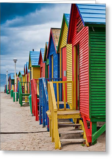 Cliff C Morris Jr Greeting Cards - Colorful Beach Houses at St James Greeting Card by Cliff C Morris Jr