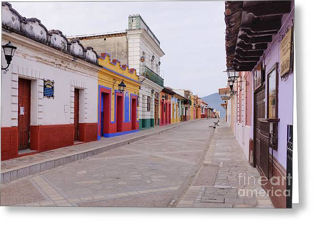 Bals Greeting Cards - Colorful Buildings on Street Greeting Card by Jeremy Woodhouse