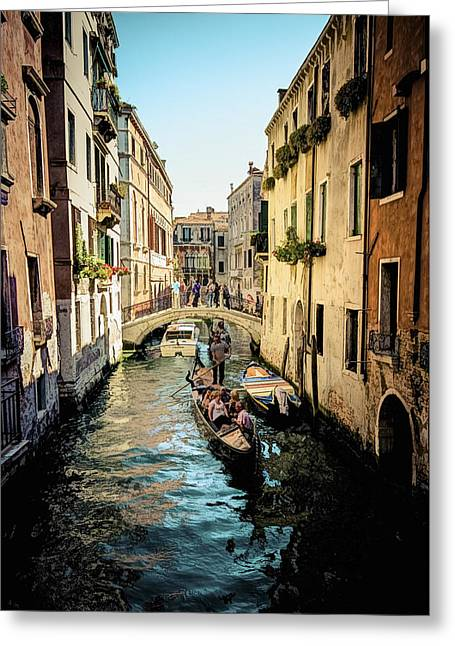 Jen Morrison Greeting Cards - Colorful Canal Greeting Card by Jen Morrison