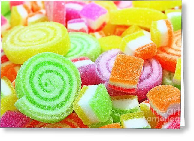 Sweetmeats Greeting Cards - Colorful candy  Greeting Card by Pongsak Deethongngam