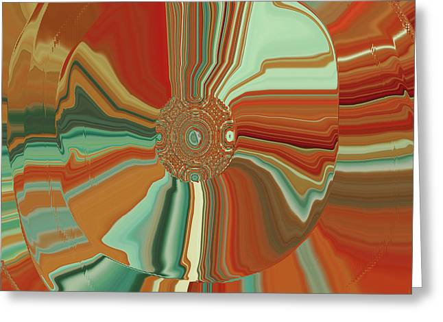 Tangerine Digital Art Greeting Cards - Colorful Circles Greeting Card by Bonnie Bruno