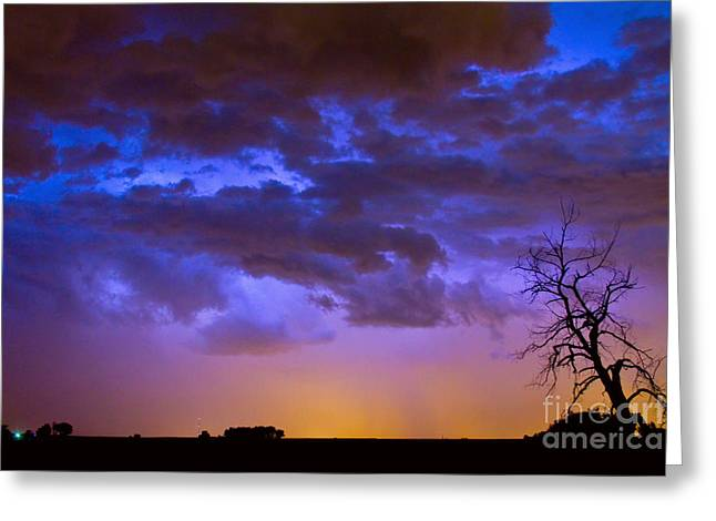 Colorful Cloud to Cloud Lightning Greeting Card by James BO  Insogna