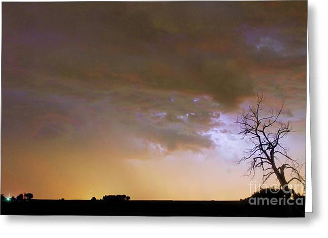 Striking Images Photographs Greeting Cards - Colorful Colorado Cloud to Cloud Lightning Striking Greeting Card by James BO  Insogna