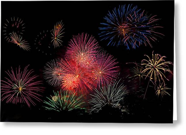 4th July Photographs Greeting Cards - Colorful Display Greeting Card by Amy Jackson