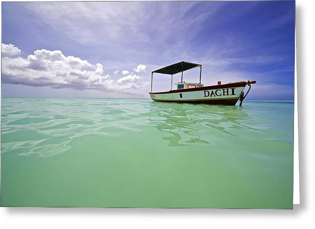 David Letts Greeting Cards - Colorful Fishing Boat of the Caribbean  Greeting Card by David Letts