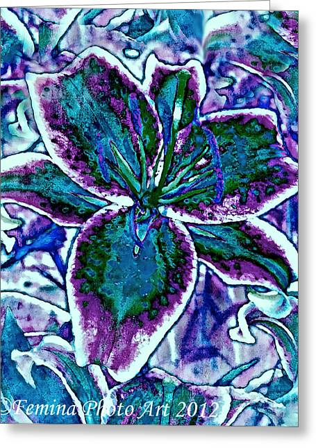Femina Photo Art Greeting Cards - Colorful Flower Splash Greeting Card by Maggie Vlazny