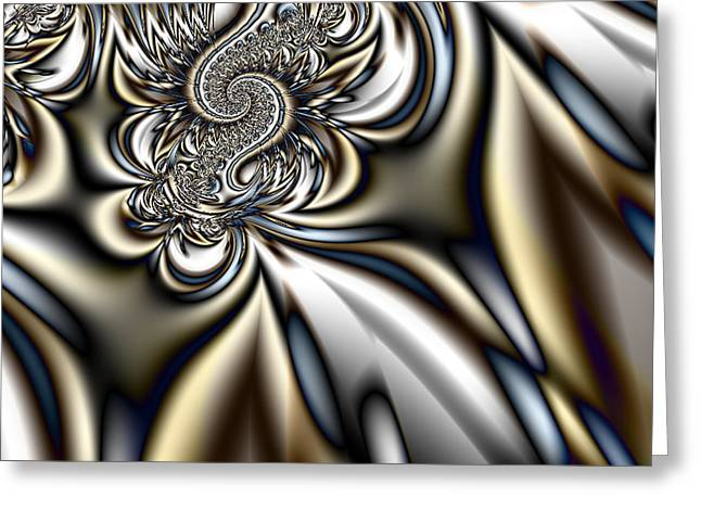 Manley Greeting Cards - Colorful Fractal Spiral   Greeting Card by Gina Lee Manley