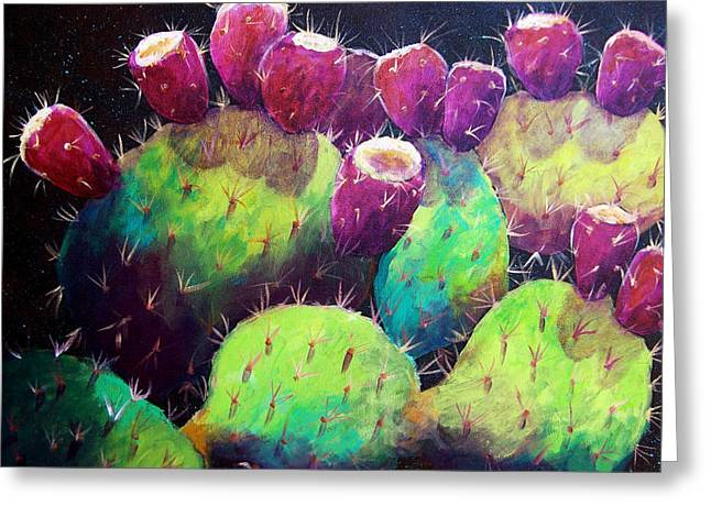 Cacti Greeting Cards - Colorful Fruit Greeting Card by Candy Mayer