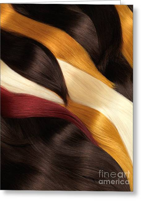 Platinum Blonde Greeting Cards - Colorful Hair Extensions Greeting Card by Oleksiy Maksymenko