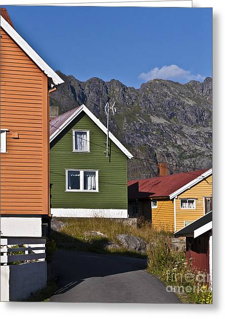 Small Fishing Village Greeting Cards - Colorful Houses Greeting Card by Heiko Koehrer-Wagner