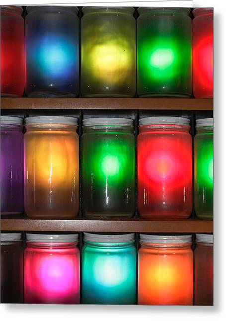 Unique Photographs Greeting Cards - Colorful jars Greeting Card by Tom Gowanlock