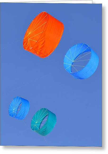 Colorful Kites Greeting Card by David Lee Thompson