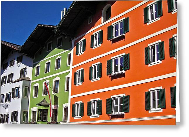 Spiegelung Greeting Cards - Colorful Kitzbuehel - Austria Greeting Card by Juergen Weiss