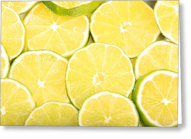 Lime Greeting Cards - Colorful Limes Greeting Card by James BO  Insogna