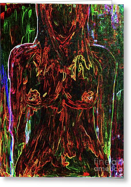 Female Body Greeting Cards - Colorful Personality Greeting Card by Julie Lueders