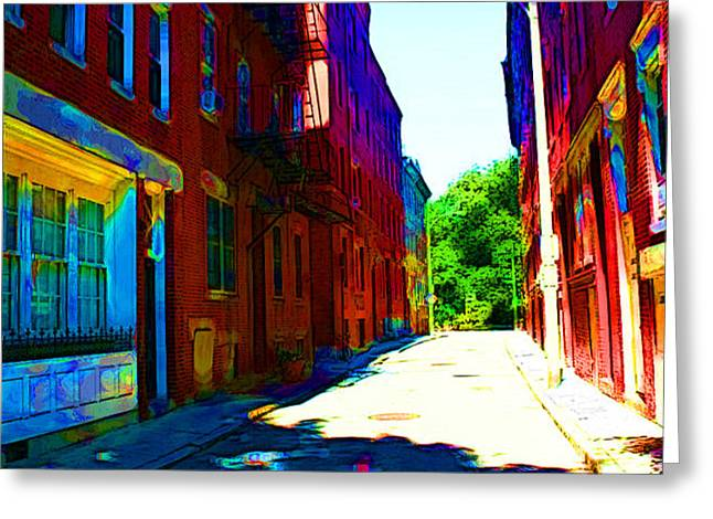 Colorful Place to Live Greeting Card by Julie Lueders