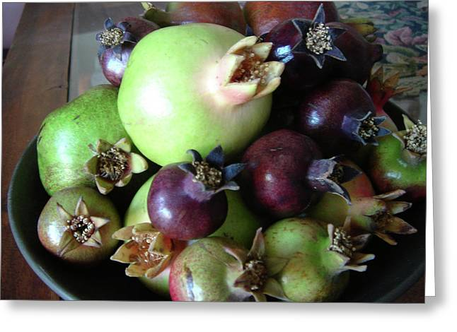 Sukkot Greeting Cards - Colorful Pomegranates Greeting Card by Ron Cantrell