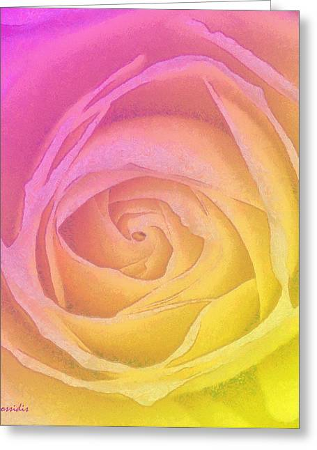G.rossidis Greeting Cards - Colorful rose II Greeting Card by George Rossidis