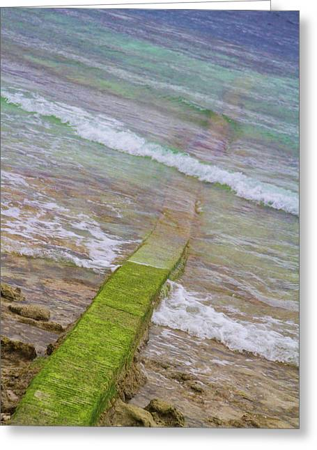 Seawall Greeting Cards - Colorful Seawall Greeting Card by James BO  Insogna