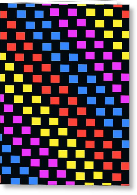 Bold Style Greeting Cards - Colorful Squares Greeting Card by Louisa Knight